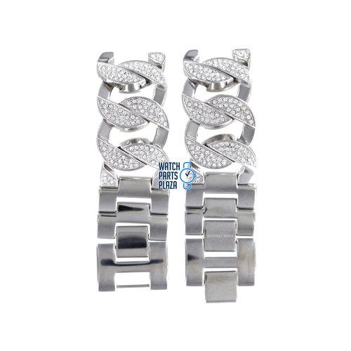 Michael Kors Michael Kors MK3079 Watch Band Grey Stainless Steel 19 mm