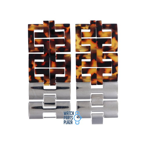 Michael Kors Michael Kors MK4155 Watch Band Brown Plastic 36 mm