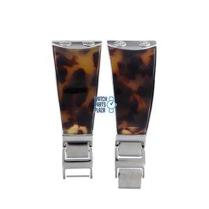 Michael Kors Michael Kors MK4168 Watch Band Brown Stainless Steel 26 mm