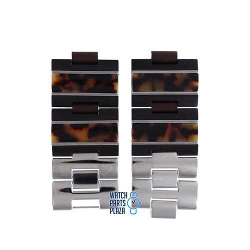 Michael Kors Michael Kors MK4151 Watch Band Brown Stainless Steel 14 mm