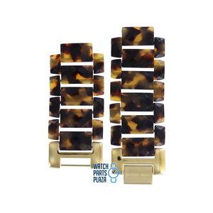 Michael Kors Michael Kors MK4166 Watch Band Brown Plastic 17 mm