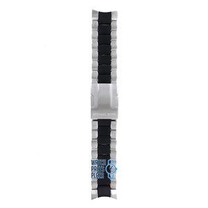 Michael Kors Michael Kors MK8079 Horlogeband Zwart Roestvrijstaal 24 mm