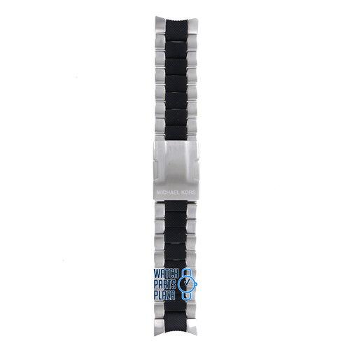 Michael Kors Michael Kors MK8079 Watch Band Black Stainless Steel 24 mm