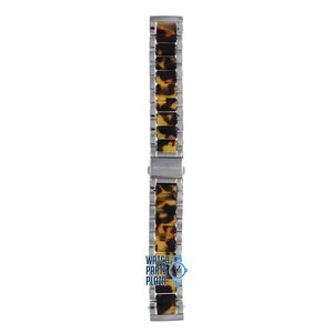 Michael Kors Michael Kors MK5051 Watch Band Brown Stainless Steel 20 mm