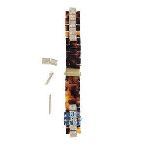 Michael Kors Michael Kors MK5058 Watch Band Brown Plastic 18 mm