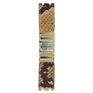 Michael Kors Michael Kors MK2114 Watch Band Brown Steel & Leather 26 mm
