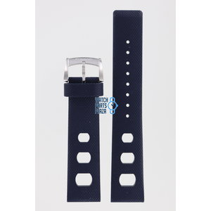 Zodiac Zodiac ZO2205 Watch Band Dark Blue Rubber 20 mm