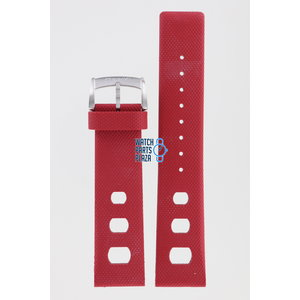Zodiac Zodiac ZO2226 Horlogeband Rood Siliconen 22 mm