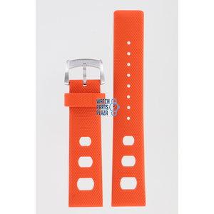 Zodiac Zodiac ZO2202 Watch Band Orange Silicone 20 mm