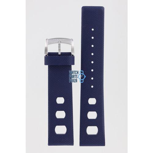Zodiac Zodiac ZO2242 Watch Band Dark Blue Silicone 22 mm