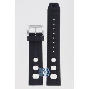 Zodiac Zodiac ZO2221 Horlogeband Zwart Siliconen 22 mm