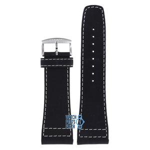 Zodiac Zodiac ZO2600 Horlogeband Zwart Leer 28 mm