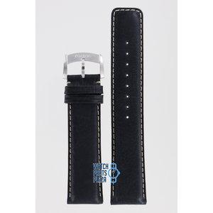 Zodiac Zodiac ZO2208 Horlogeband Zwart Leer 22 mm