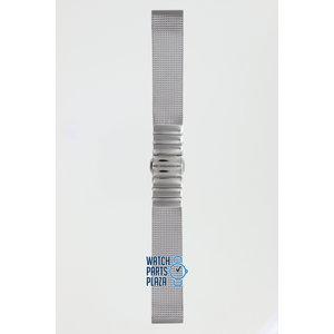 Burberry Burberry BU4503 Horlogeband Grijs Roestvrijstaal 17 mm