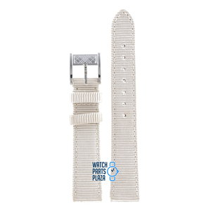 Burberry Burberry BU4310 Watch Band White Leather 16 mm