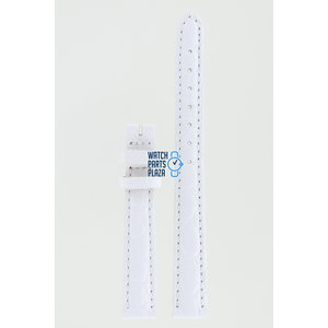 Burberry Burberry BU4557 Watch Band White Leather 12 mm