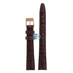 Burberry Burberry BU4557 Watch Band Brown Leather 13 mm