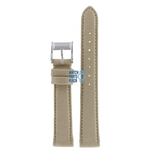 Burberry Burberry BU7107 Watch Band Beige Leather & Textile 16 mm