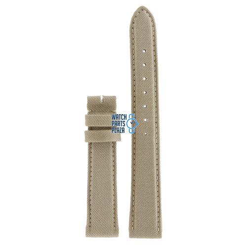 Burberry Burberry BU7107 Horlogeband Beige Leer & Textiel 16 mm