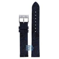 Burberry BU4512 Watch Band Black Leather 17 mm