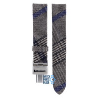 Burberry BU4512 Watch Band Grey Leather & Textile 17 mm