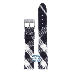 Burberry Burberry BU4304 Watch Band Black Leather & Textile 16 mm