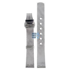 Burberry Burberry BU3005 Horlogeband Grijs Roestvrijstaal 16 mm