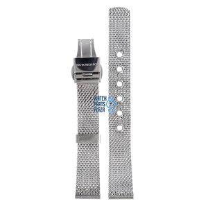 Burberry Burberry BU3005 Watch Band Grey Stainless Steel 16 mm