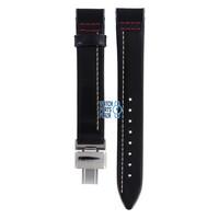 Burberry BU1012 Watch Band Black Leather 17 mm