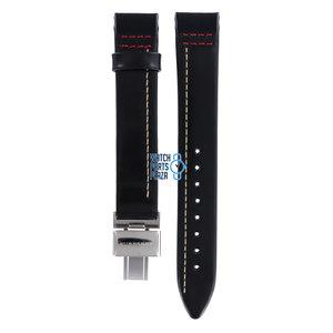 Burberry Burberry BU1012 Horlogeband Zwart Leer 17 mm