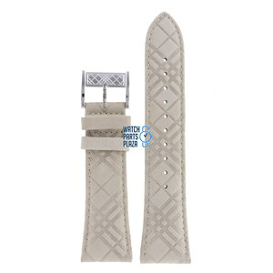 Burberry Burberry BU1104 Watch Band White Leather 25 mm