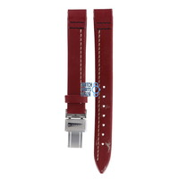 Burberry BU1013 Watch Band Red Leather 13 mm