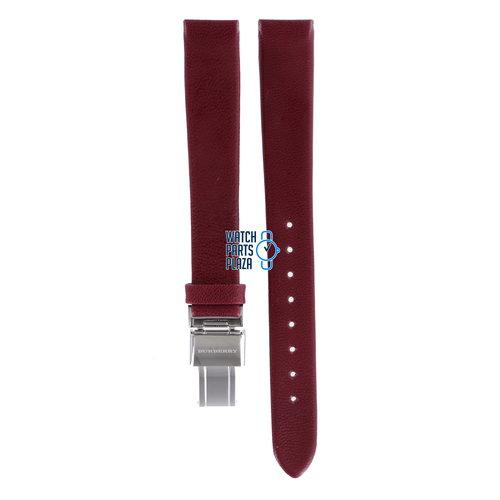 Burberry Burberry BU1054 Watch Band BU-1054 Red Leather 14 mm