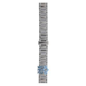 Burberry Burberry BU1056 Horlogeband Grijs Roestvrijstaal 18 mm