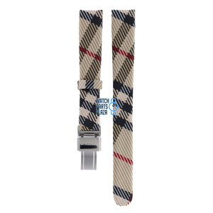 Burberry Burberry BU1051 Watch Band Beige Leather & Textile 14 mm