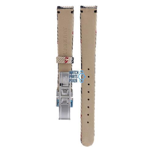 Burberry Burberry BU1051 Watch Band BU-1051 Beige Leather & Textile 14 mm