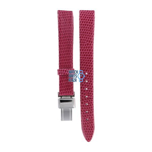 Burberry Burberry BU1026 Watch Band Pink Leather 13 mm