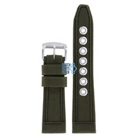 Citizen AP4011-01W Military Watch Band Green Leather & Textile 23 mm
