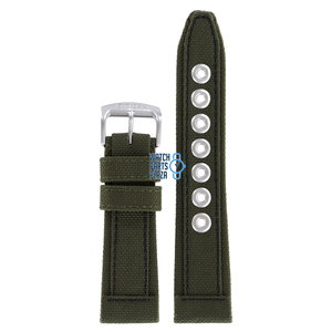 Citizen Citizen AP4011-01W Military Horlogeband Groen Leer & Textiel 23 mm