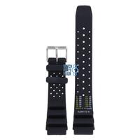 Citizen BN0150, BN0155, BN0156, BN0158 & BN0159 Sea Watch Band Black Silicone 20 mm