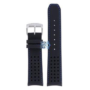 Citizen Citizen AT7036-09E Bracelet De Montre Noir Cuir 22 mm