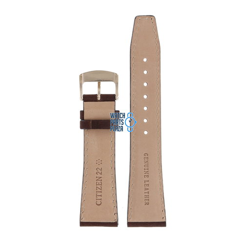 Citizen Citizen AW1573-11L Watch Band 59-S53856 Brown Leather 22 mm Eco-Drive