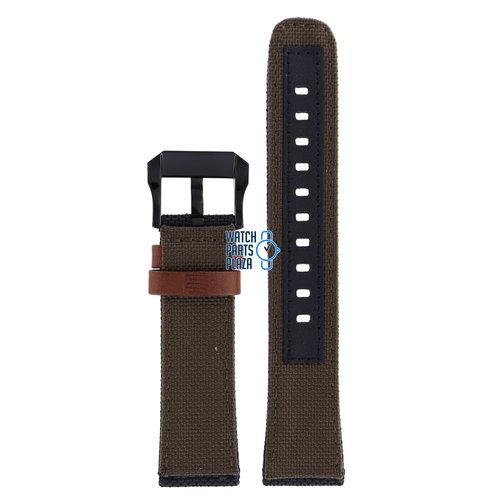 Citizen Citizen BN4049-11E Altichron Watch Band 59-R50536 Brown Leather & Textile 22 mm Promaster