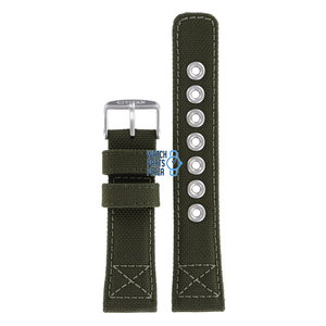 Citizen Citizen AW1410-16X & AW1410-32X Military Watch Band Green Leather & Textile 22 mm