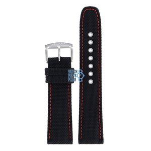 Citizen Citizen BU2040-05E & BU2040-05E-1 Sports Cinturino Dell'Orologio Nero Pelle e Tessuto 22 mm
