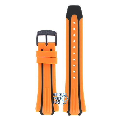 Citizen Citizen BN0097-11E & CA0517-07E Scuba Fin Cinturino Dell'Orologio Arancione Silicone 20 mm