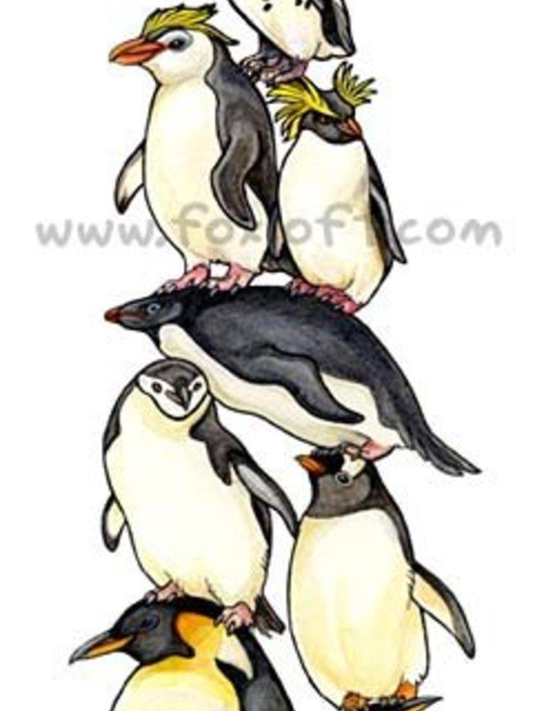 Foxloft Studios  Bird Stack - Penguins
