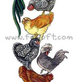 Foxloft Studios Birdstack - Chickens