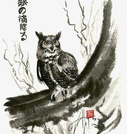 Foxloft Studios Silver Drops Falling - Owl