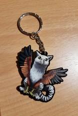 Kitty Fluff Keychain, tiger gryphon
